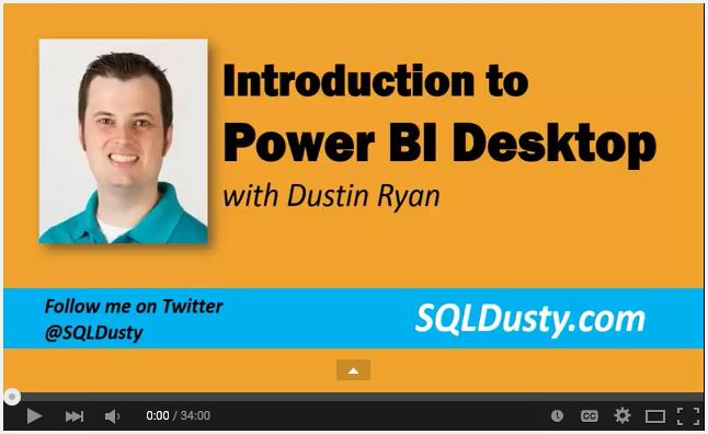 Learn Power BI Desktop with Dustin Ryan
